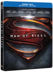 Man of Steel 3D BD-Steelbook-3D pack