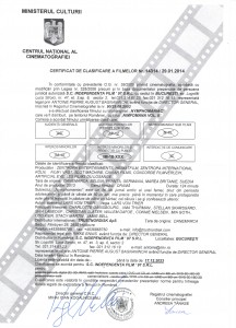 Cerificat clasificare_Nymphomaniac Vol. II