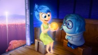 """Joy (voice of Amy Poehler) and Sadness (voice of Phyllis Smith) catch a ride on the Train of Thought in Disney•Pixar's """"Inside Out."""" Directed by Pete Docter (""""Monsters, Inc.,"""" """"Up""""), """"Inside Out"""" opens in theaters nationwide June 19, 2015. ©2014 Disney•Pixar. All Rights Reserved."""
