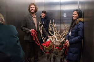 (L-R) T.J. Miller as Clay Vanstone, Jason Bateman as Josh Parker and Olivia Munn as Tracey Hughes in OFFICE CHRISTMAS PARTY by Paramount Pictures, DreamWorks Pictures, and Reliance Entertainment